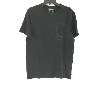 Express Women's Tshirt Cotton Solid Black Size M